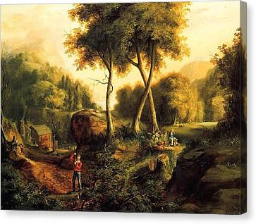 Canvas Print featuring the painting Landscape - 1845 by Thomas Cole