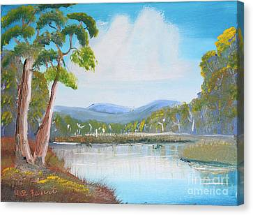 Australian Landscape Canvas Print by Kate Farrant