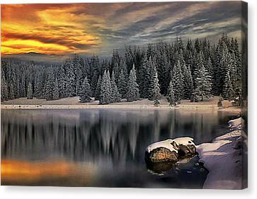 Canvas Print featuring the photograph Landscape Art by Digital Art Cafe