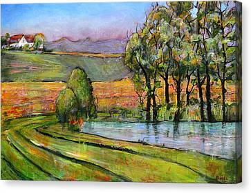 Landscape Art Scenic Fields Canvas Print