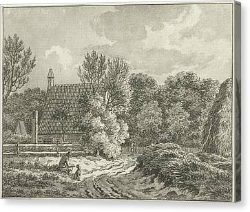 City Scape Canvas Print - Landscape At Bloemendaal, The Netherlands by Jan Evert Grave