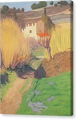 Landscape At Lagnes Canvas Print by Felix Edouard Vallotton