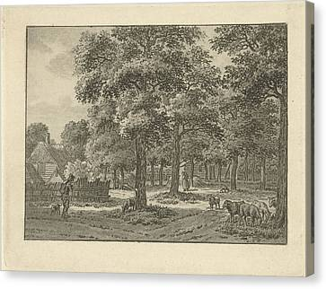 City Scape Canvas Print - Landscape At Muiderberg, Jan Evert Grave by Jan Evert Grave