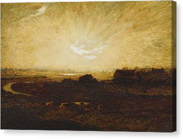Landscape At Sunset Canvas Print