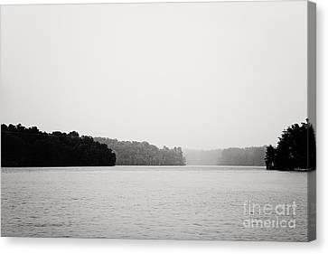 Landscape Black And White Fog Canvas Print