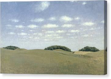 Landscape From Lejre Canvas Print by Vilhelm Hammershoi