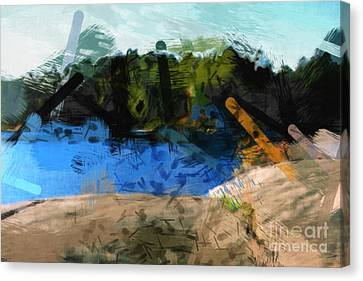 Landscape Impact Canvas Print by Lutz Baar