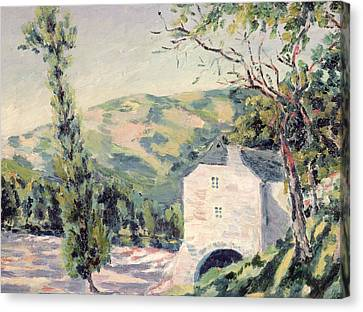 Landscape In Provence Canvas Print by French School