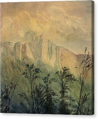 Landscape In The Vosges Canvas Print by Gustave Dore