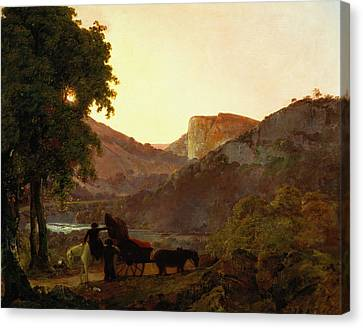 Horse And Cart Canvas Print - Landscape by Joseph Wright of Derby