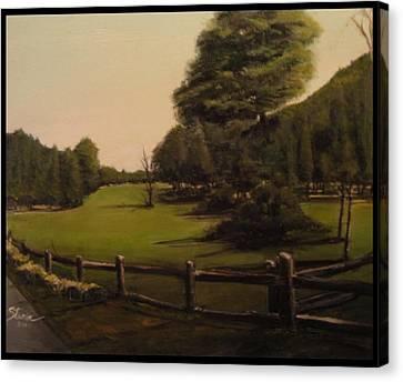 Landscape Of Duxbury Golf Course - Image Of Original Oil Painting Canvas Print by Diane Strain