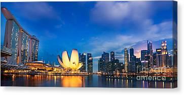 Landscape Of Singapore City  Canvas Print