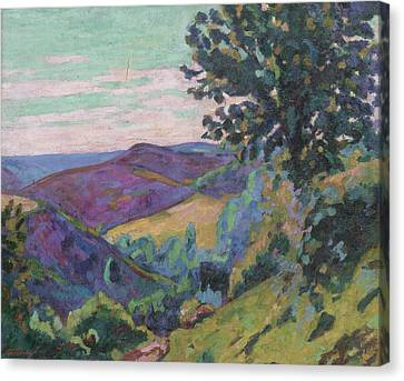 Landscape Of The Crozant Canvas Print