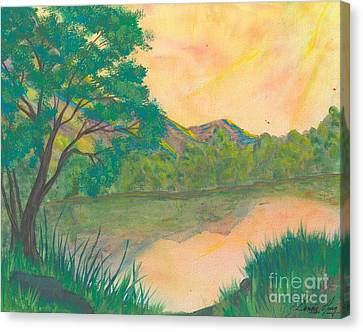 Landscape Of The Mind Canvas Print by Denise Hoag