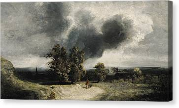 Landscape On The Outskirts Of Paris Canvas Print