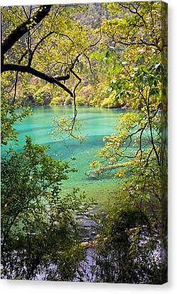 Landscape Photostories Of Tibet Jiuzhaigou Canvas Print by Sundeep Bhardwaj Kullu sundeepkulluDOTcom