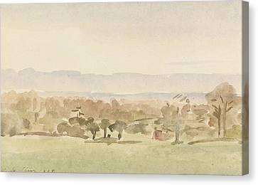 Landscape, Possibly Framlingham, Suffolk Canvas Print