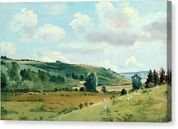Landscape Summer Landscape Near Dedham, Lionel Constable Canvas Print