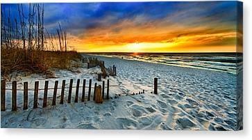 Landscape Sunrise Panorama Canvas Print by Eszra Tanner