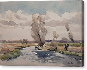 Landscape Canvas Print by Henri Duhem