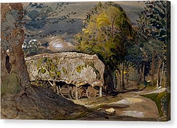 Landscape With A Barn, Shoreham, Kent Canvas Print by Samuel Palmer