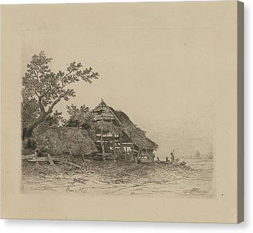 Landscape With A Dilapidated Shed, Remigius Adrianus Haanen Canvas Print