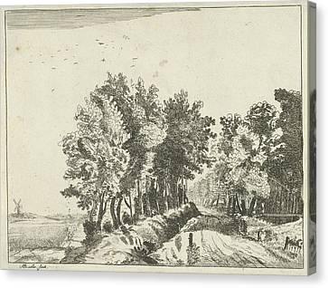 Landscape With A Hut On The Road, Anna Maria De Koker Canvas Print