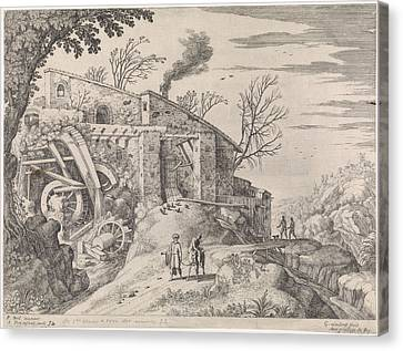 Landscape With A Watermill And The Good Samaritan Canvas Print by Quint Lox