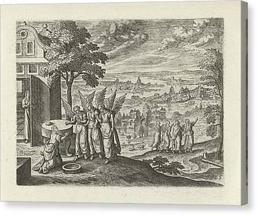 Landscape With Abraham And The Three Angels Canvas Print