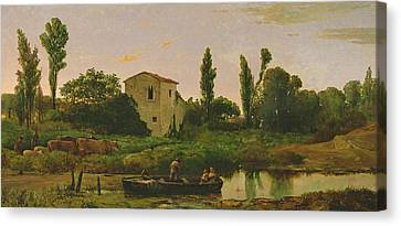 Landscape With Boat Canvas Print