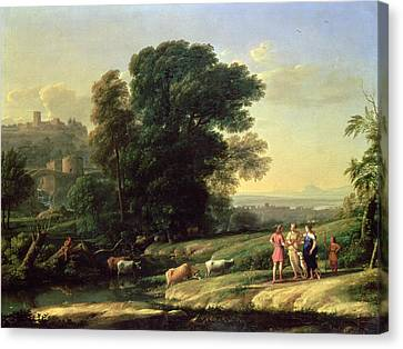 Landscape With Cephalus And Procris Reunited By Diana, 1645 Oil On Canvas Canvas Print