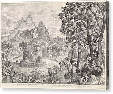 City Scape Canvas Print - Landscape With Duck Hunting, Nicolaes De Bruyn by Nicolaes De Bruyn