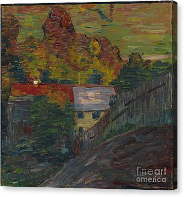 Landscape With Red Roof Wasserburg Canvas Print by Celestial Images