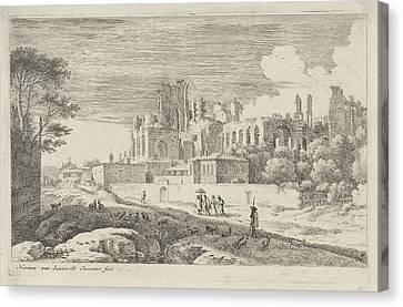 Country Roads Canvas Print - Landscape With Ruins, Herman Van Swanevelt by Herman Van Swanevelt