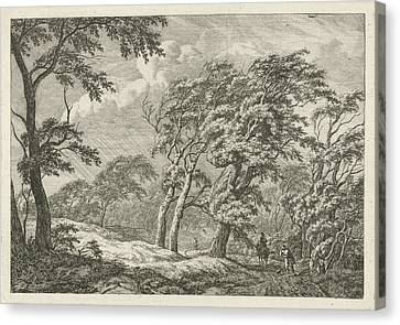 Landscape With Storm And Rain, Franciscus Andreas Milatz Canvas Print by Artokoloro