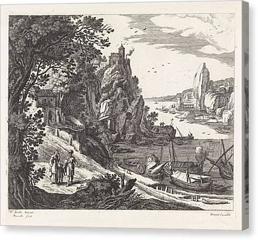 Landscape With The Expulsion Of Hagar And Ishmael Canvas Print