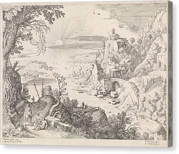 Landscape With The Good Samaritan, Willem Van Nieulandt II Canvas Print by Artokoloro