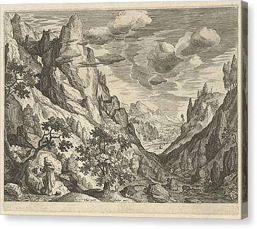Landscape With The Temptation Of Christ In The Desert Canvas Print