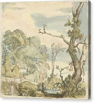 Landscape With Trees, Esaias Van De Velde Canvas Print by Esaias Van De Velde