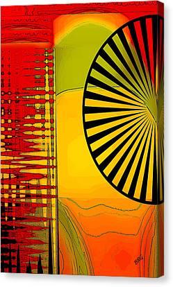 Landscape With Umbrella Canvas Print