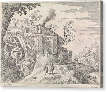 Landscape With Water Mill And The Good Samaritan Canvas Print by Artokoloro