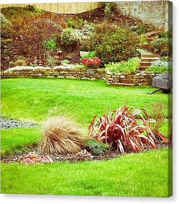 Landscaped Garden Canvas Print by Tom Gowanlock