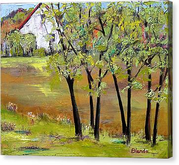 Blendastudio Canvas Print - Landscapes Art - Hill House by Blenda Studio