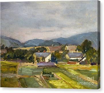 Austria Canvas Print - Landschaft In North Austria by Egon Schiele