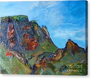 Landslip - Skye Canvas Print by Jacki Wright