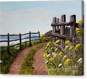 Lane At Highland Village Canvas Print