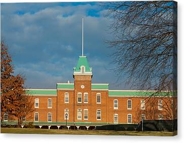Lane Hall At Virginia Tech Canvas Print by Melinda Fawver
