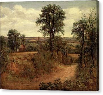 Lane Near Dedham Road Near Dedham, John Constable Canvas Print