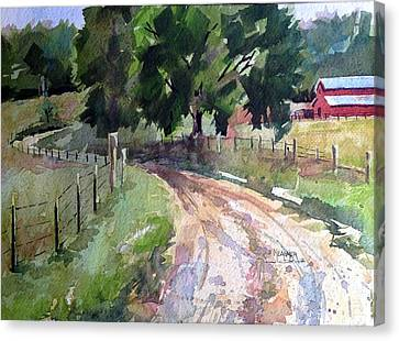 Lane To Fester Farms Canvas Print by Spencer Meagher