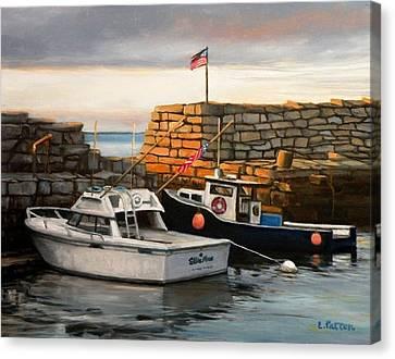 Lanes Cove Fishing Boats Canvas Print